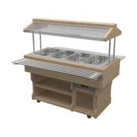 Салат-бар охлаждаемый WoodLine под GN 1550x720x1400